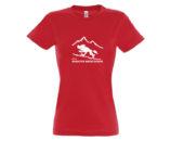 Koszulka damska czerwona ultraMaraton Bieszczadzki