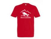 Koszulka męska czerwona ultraMaraton Bieszczadzki